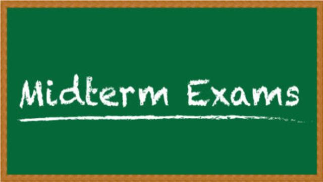 Date Sheet for Mid Term Examinations