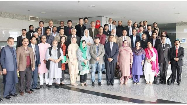 Dr. M. Khawar Nawazish attends a meeting at PHEC